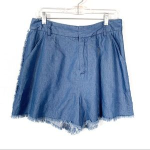 Kendall & Kylie NEW Jean Fringe Shorts Size L